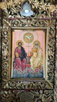 """Иконата на Архиерейския трон в Църквата """"Рождество Богородично""""– Рилски Манастир"""